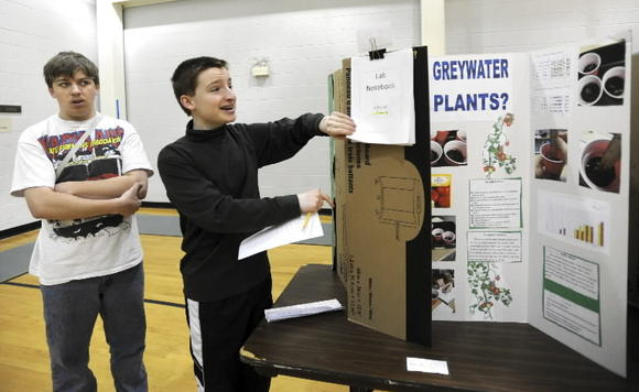Hannah More School students host a science fair earlier this year.