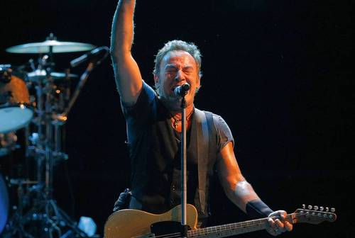 Bruce Springsteen and Max Weinberg of the E Street Band play the United Center in May 2009.