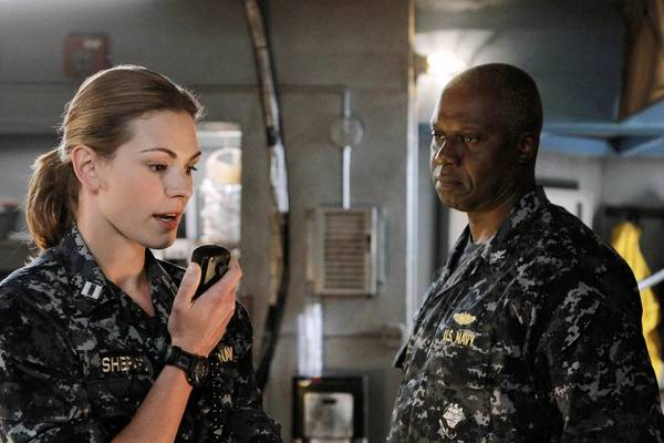 "Daisy Betts and Andre Braugher in ""Last Resort."""