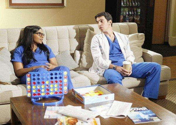 "Mindy Kaling and Chris Messina in ""The Mindy Project."""