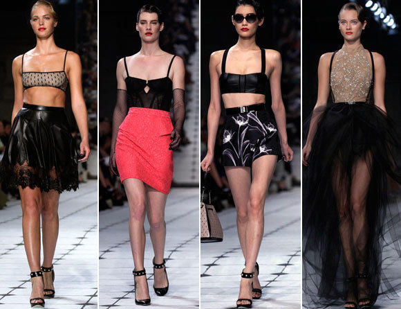 Looks from the Jason Wu spring-summer 2013 runway collection shown during New York Fashion Week.