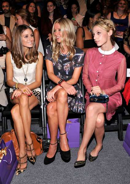 (L-R) Olivia Palermo, Nicky Hilton and Cory Kennedy attend the Noon By Noor Spring 2013 fashion show.