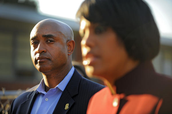 New Baltimore Police Commissioner Anthony Batts, with Mayor Stephanie Rawlings-Blake.