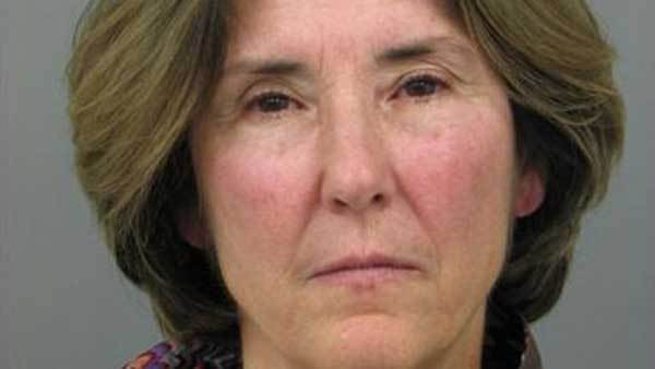 Booking photo of Winnetka Village Trustee Jennifer Spinney