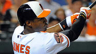 Orioles' Adam Jones aims to play in every game, jokes about catching Cal Ripken Jr.