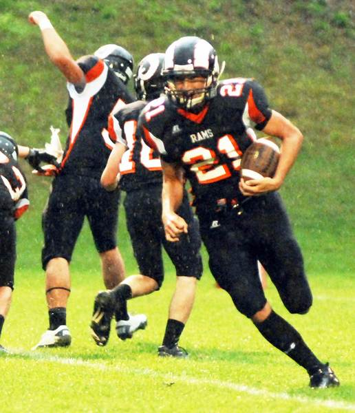 Sam Hansen rushed for 175 yards and three touchdowns Friday as Harbor Springs rolled past East Jordan, 49-8, improving to 2-1 on the season.