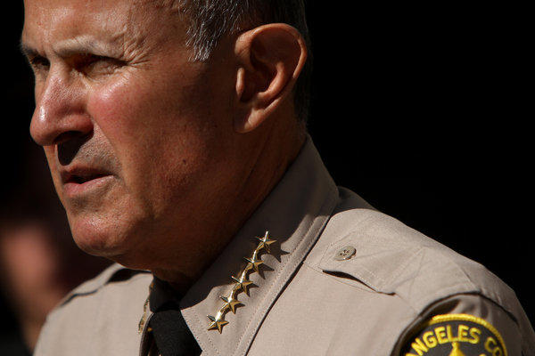 The troubled Maywood police force was disbanded in 2010 and replaced by the Los Angeles County Sheriff's Department, led by Sheriff Lee Baca, shown.