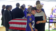 Fans pay respects to Art Modell at Ravens' stadium