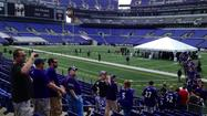 At Art Modell memorial, Ravens fans pay last respects