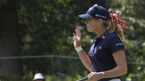 Paula Creamer, a familiar name at Kingsmill, takes over the leaderboard