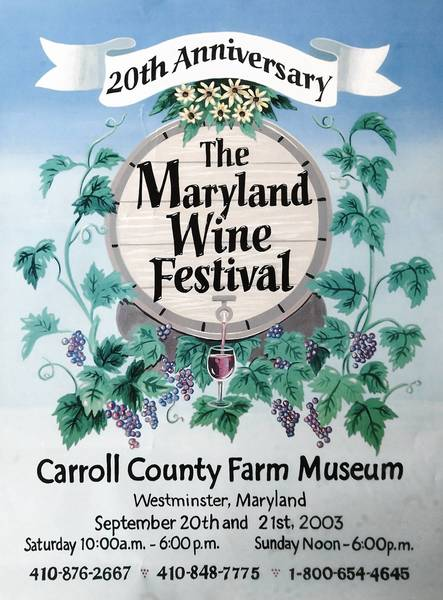Peggy Conrad began collecting posters from the Maryland Wine Festival in 2003 during the festival's 20th year.