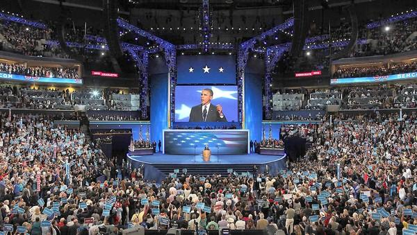 President Obama speaks at the Democratic National Convention in Charlotte, N.C., last week.
