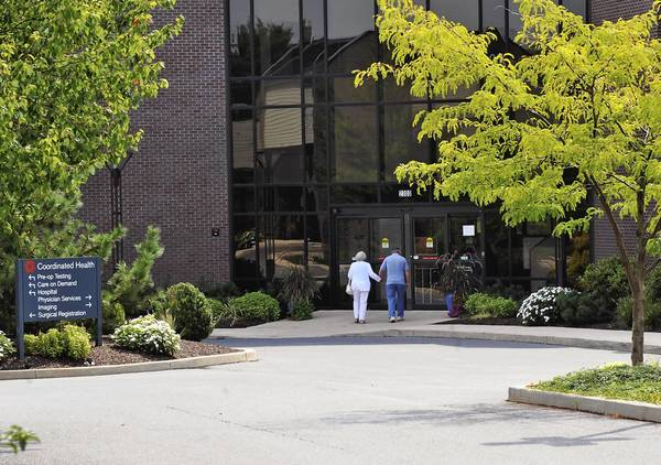 Coordinated Health on Highland Avenue in Bethlehem is the only hospital in 49 counties that does not have a contract with Highmark Blue Shield, the state's largest health insurer.