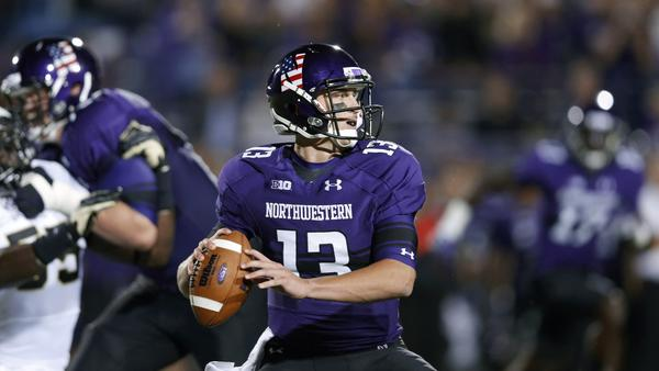 Trevor Siemian looks to pass during Saturday night's game against Vanderbilt. (Joe Robbins/Getty photo)