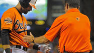 Orioles right fielder Nick Markakis' broke his left thumb in the fifth inning of Saturday's 5-4 win against the New York Yankees and is lost for at least six weeks, putting the club's leadoff hitter and most tenured player out for the rest of the regular season and a chunk of the potential postseason.