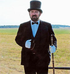 On Sept. 16, John Timm will portray Gov. Arthur Mellette at the Dakota Sunset Museum in Gettysburg.
