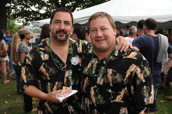 Brothers John Zuppo, right, of Deep River, and Mark Zuppo, of Montville, have been attending the Brass City Brew Fest for the last three years.