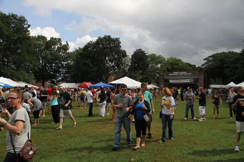 Thousands of beer enthusiasts crowded into Waterbury's Library Park Saturday afternoon for the annual Brass City Brew Fest.
