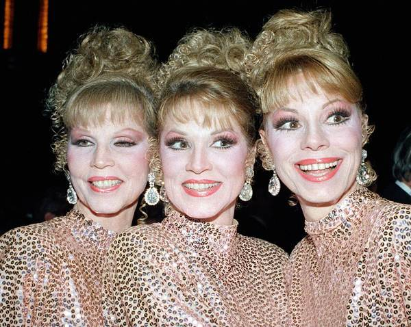 The McGuire Sisters, Christine, Phyllis and Dorothy, in 1986.