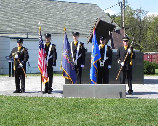 International Association of Firefighters Local 1813 post colors at Sunday's 9/11 Memorial Service at Franklin County Veterans' Memorial Park at Letterkenny Army Depot.