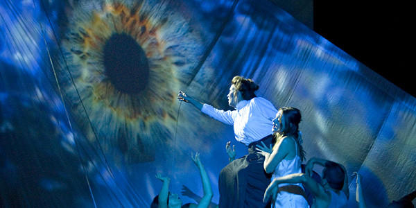 "Stunning visuals set the mood during the Long Beach Opera performance of ""Paper Nautilus."""