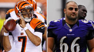 When backup center Gino Gradkowski walks into M&T Bank Stadium for his first regular-season game as a member of the Ravens, he will have about 20 family members in the stadium. His big brother will be there, too, but he will be standing across the field on the Cincinnati Bengals' sideline.