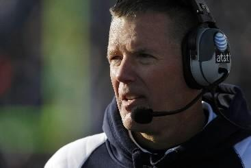 Connecticut Huskies head coach Randy Edsall watches from the sideline during the second half against the Cincinnati Bearcats at Rentschler Field. UConn defeated Cincinnati 38-17 in November, 2010