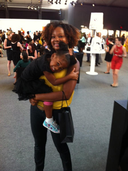 Ashanti Thompson, of Staten Island, with her daughter Kali Glasgow, 4.