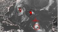 As Hurricane Michael and Tropical Storm Leslie churn in the Atlantic with only limited impact on land expected, a new storm system is moving toward North America in the middle of the ocean.