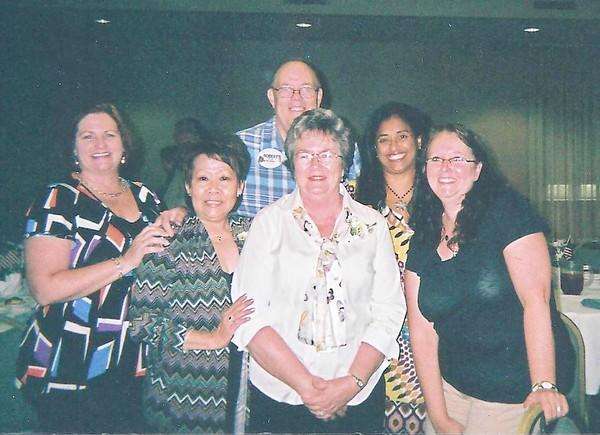 On July 27, nominated members of Bel Air Health and Rehabilitation Center were honored at a recognition luncheon at Turf Valley Conference Center by HFAM. Pictured, from left, are Lee Yazdani, Taeu Nixon, Linda Creswell and Angie Orem; back row, Bob Pickard and Jacinda Martinez. Charles Creswell is not pictured.