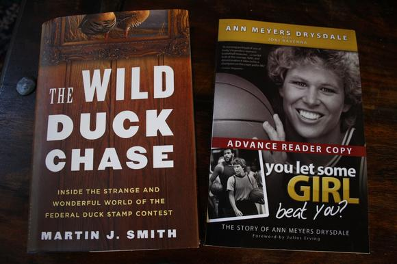 "The authors of ""The Wild Duck Chase: Inside the Strange and Wonderful World of the Federal Duck Stamp Contest"" and ""You Let Some Girl Beat You?"" will speak at the Barnes & Noble at Bella Terra on Sept. 18 and 19."