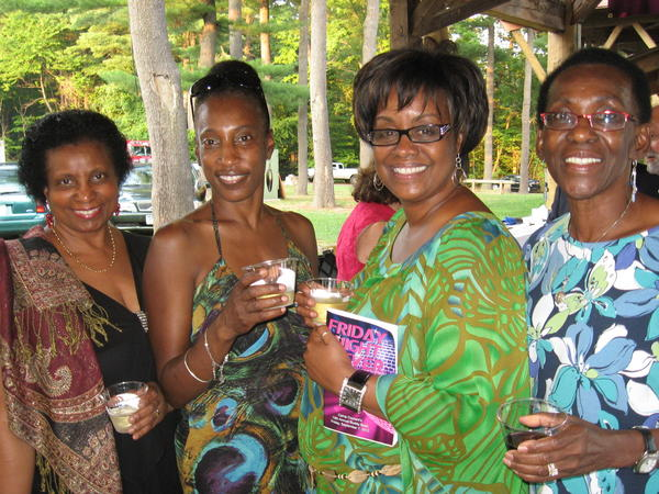 Representing Hartford Steam Boiler, one of the  party sponsors, were Dionne Morris, left, Judith Williams, Judy Soutar and Yvonne Inniss-Brewer.