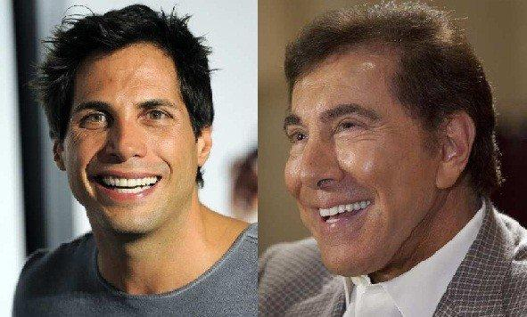 Joe Francis, left, and Steve Wynn.