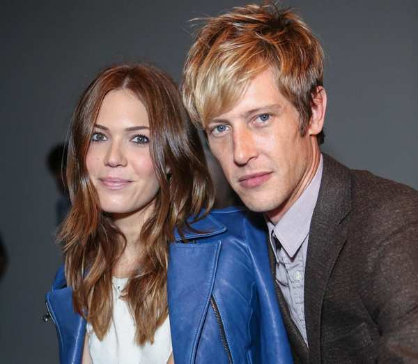 Actress / singer Mandy Moore (L) and actor Gabriel Mann attend Billy Reid's spring 2013 fashion show.