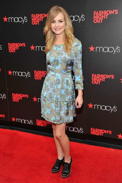 Actress Britt Robertson attends Tommy Hilfiger Celebrates Fashion's Night Out at Macy's Herald Square.