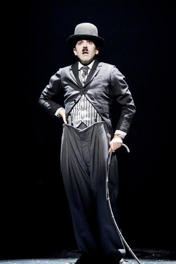Rob McClure as Charlie Chaplin in the Broadway production.