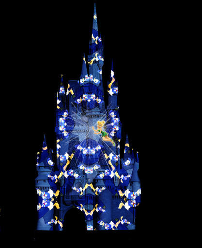 "This image shows the new nighttime projection show that will be on <a class=""taxInlineTagLink"" id=""PLTRA0000107"" title=""Cinderella Castle"" href=""/topic/travel/tourism-leisure/theme-park-vacations/cinderella-castle-PLTRA0000107.topic"">Cinderella Castle</a> beginning in November 2012. Celebrate the Magic replaces the Magic, Memories and You show that finished up on <a class=""taxInlineTagLink"" id=""EVFES000025"" title=""Labor Day"" href=""/topic/jobs-workplace/labor-day-EVFES000025.topic"">Labor Day</a>."