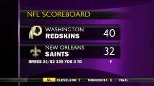 Skins stun Saints at Superdome