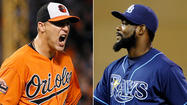 When the Orioles and Tampa Bay Rays begin a three-game series Tuesday at Camden Yards, the two most effective relievers in the American League will be in uniform.