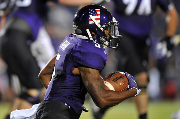 Northwestern's Venric Mark had a strong game against Vanderbilt on Saturday.