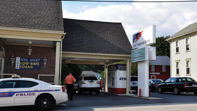 Police responded to a robbery at the First National Bank in Davidsville Monday afternoon.