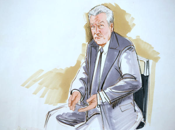 Drew Peterson in the courtroom after being found guilty of the murder of Kathleen Savio.
