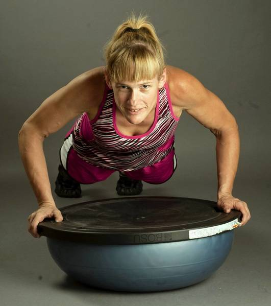 Karen Skorochod, of Wind Gap, enjoys cross-training