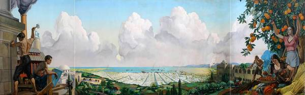 """View of Haifa, Upon the Founding of Israel,"" by Sanford Low and Walter Korder"