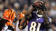 "Anquan Boldin smiled when asked what he thought about Cincinnati Bengals strong safety Taylor Mays matching up against him on Boldin's 34-yard touchdown catch in the second quarter of the Ravens<span class=""runtimeTopic"">'</span> 44-13 demolition at M&T Bank Stadium Monday night."