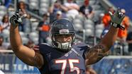Bears defensive tackle Matt Toeaina before the Colts game