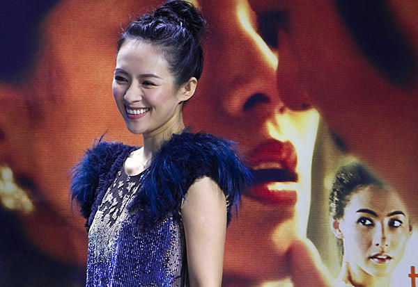"Actress Zhang Ziyi dazzles on the red carpet during the premiere of her film, ""Dangerous Liaisons,"" at the Toronto International Film Festival on Sept. 10."