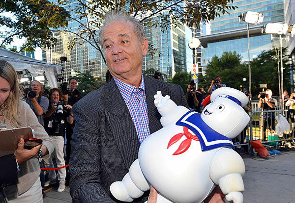 "Bill Murray mugs it up for the crowd during the premiere of ""Hyde Park On Hudson"" at the Toronto International Film Festival on Sept. 10."