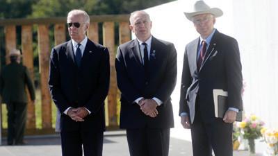 Vice President Joe Biden, Patrick White and Secretary Ken Salazar.