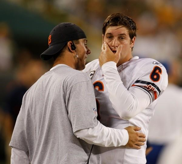 Bears fans were eager to wash the taste of Kyle Orton from their mouths and receive their first taste of the Jay Cutler era, which instead triggered their gag reflexes. The young Cutler threw four picks, and the Bears lost on a 50-yard fourth-quarter TD pass to Greg Jennings from the Discount Double Check Guy. To top it off, Brian Urlacher suffered a season-ending injury in the game. --Adam Lukach